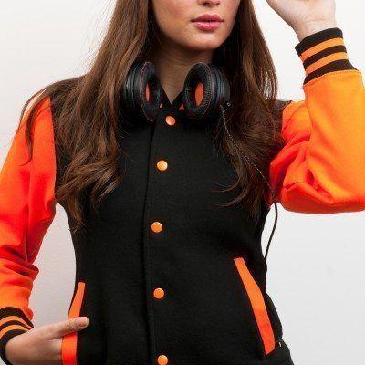 Black - Electric Orange